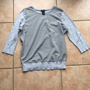 3/$30 Ann Taylor Gray Mixed Media Sweater Medium